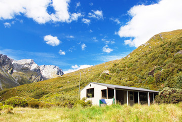 Backcountry Hut in Rees Valley, New Zealand