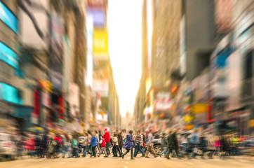 People walking on the street of Manhattan - New York City