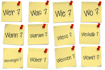 post it - W-Fragen - FAQ