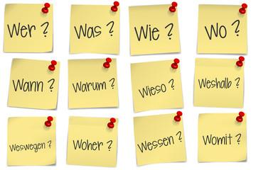 post it - W-Fragen - FAQ