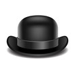 Bowler hat on a white background - 76210753