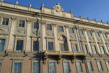 The facade of Marble Palace in St.Petersburg
