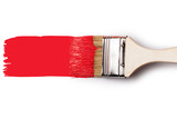 Paintbrush with red paint - 76210915