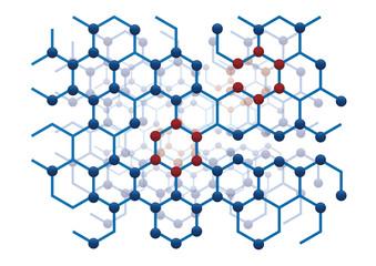 science particle molecule atom cell vector illustration