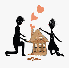 Couple Building House
