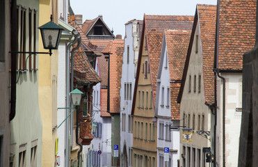 Houses in Rothenburg ob der Tauber Rathaus, Germany