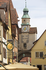 Clocktower in Rothenburg, Germany