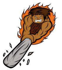 Caveman Rage Vector Image