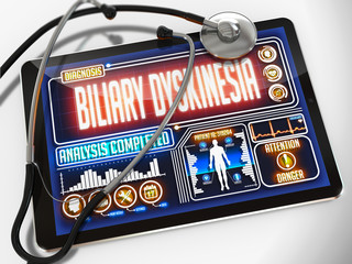 Biliary Dyskinesia on the Display of Medical Tablet.