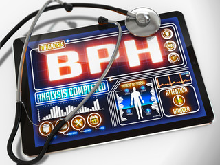 BPH on the Display of Medical Tablet.