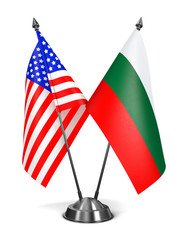 USA and Bulgaria - Miniature Flags.