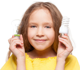 Child with bulbs