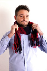 Boy with scarf