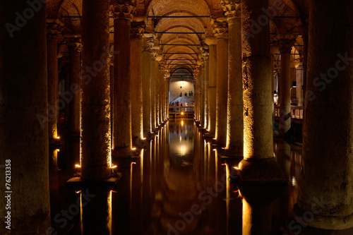 Canvas Turkey Basilica Cistern, Istanbul, Turkey.