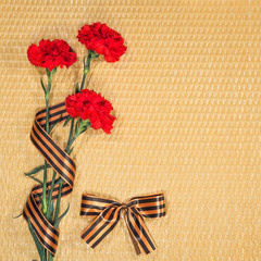 Carnations and Georgievsky tape