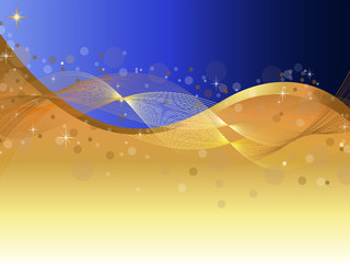 Background Vector-Abstract Blue & Gold Background