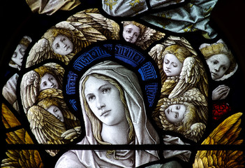 St. Mary with angels