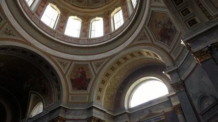 Interior of the hungarian Esztergom Basilica under the dome