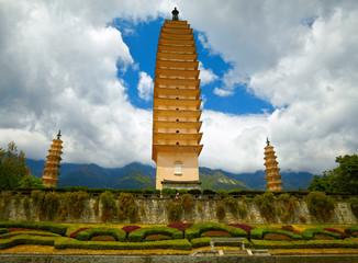 Three Pagodas in Dali. Yunnan province, China