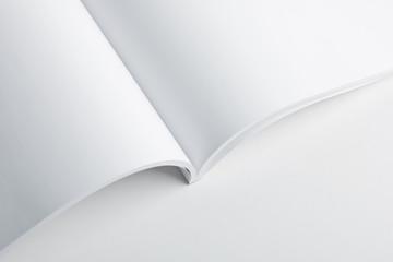 Open album with a pure white cover