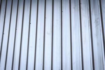 Corrugated silver metal sheet background