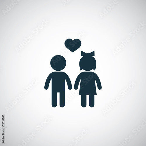 girl and boy icon - 76216345