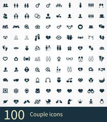 100 couple icons