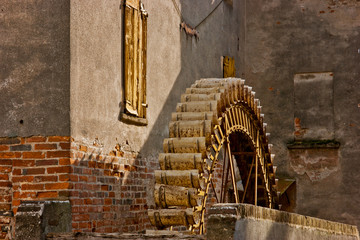 The wheel of the watermill