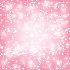 Shiny hearts background