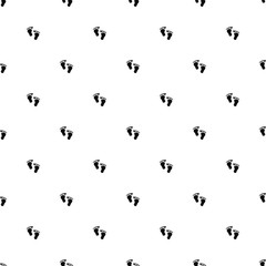 Vector seamless pattern, footprint