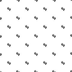 Vector seamless pattern, footprint
