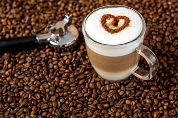 Latte Macchiato with heart
