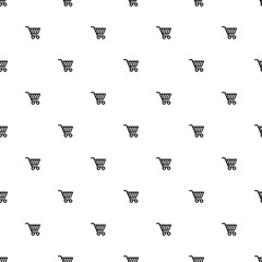 Vector seamless pattern, shopping cart