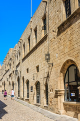 Street of the Knights in the Old Town. Rhodes Island. Greece