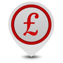 Pound pointer icon on white background