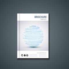 Vector flyer or banner. Brochure template