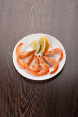 Shrimp with lime and lemon