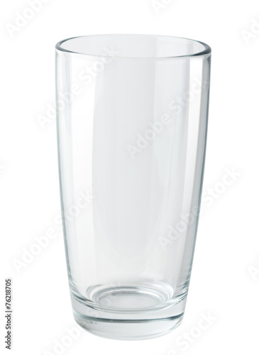 canvas print picture Empty glass isolated on white background. Path
