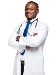 Black doctor portrait