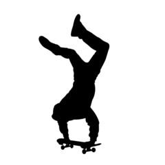 Handstand auf Skateboard
