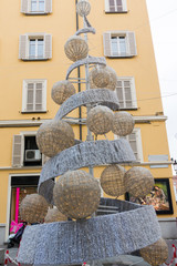 wool christmas Tree in urban street