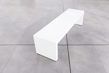 White bench seating