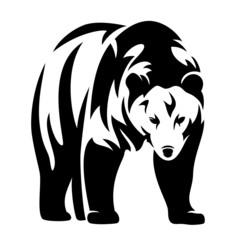 bear black and white design