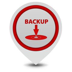 Backup pointer icon on white background