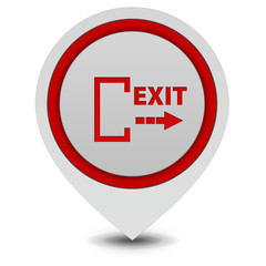 Exit pointer icon on white background
