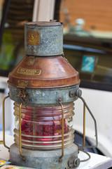 ship oil lamp vintage  in a flea market