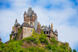 Close view of Cochem Imperial castle