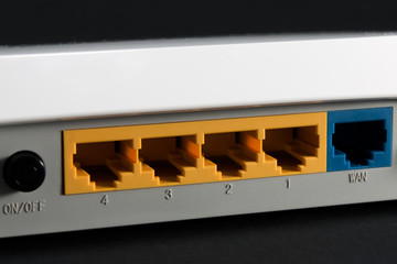 ethernet port on the back of the router