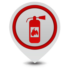 Fire extinguisher pointer icon on white background