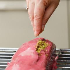 chef making loaf cake